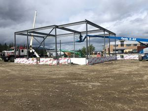 Francophone School Steel Erection Whitehorse